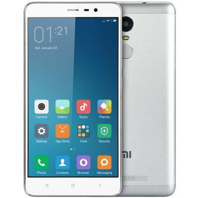 EU raktárról - XIAOMI Redmi Note 3 Pro 5.5 FHD Android 5.1 S650 16GB 4G okostelefon - Ezüst