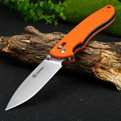 Ganzo F740 összecsukható zsebkés - Narancs