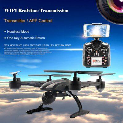 JXD 509W 2.4G 6 tengelyes 4 csatornás 2.0MP WIFI RTF FPV drón - Fekete