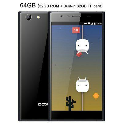 EU Raktár - DOOGEE Y300 4G okostelefon - Fekete