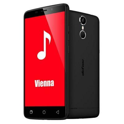 EU Raktár - Ulefone Vienna 4G okostelefon - Fekete