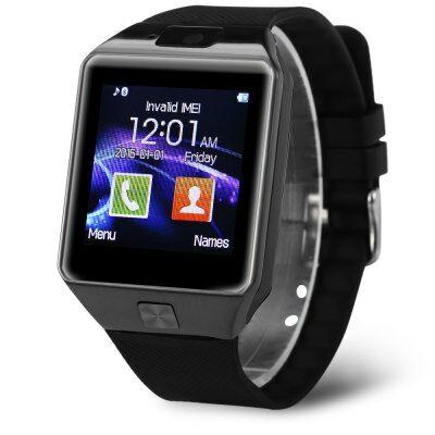 DZ09D Single SIM okosóra telefon - Fekete