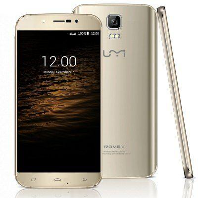 Umi Rome X 5.5 HD 2.5D Android 5.1 MTK6580 3G Okostelefon - Pezsgő