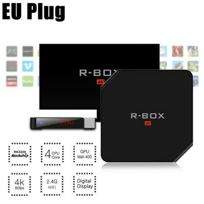 R - BOX Android 5.1 4K TV Box - Fekete