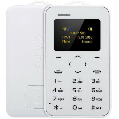 AIEK C6 kártya mobiltelefon - Fehér