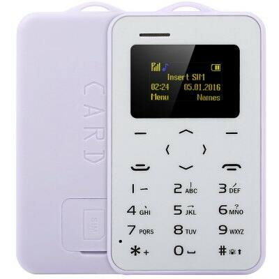 AIEK C6 kártya mobiltelefon - Lila