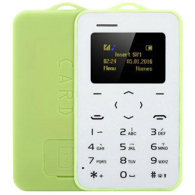 AIEK C6 kártya mobiltelefon - Zöld