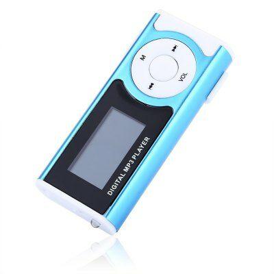 Hordozható MP3 lejátszó LCD kijelzővel - Kék