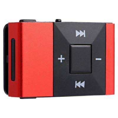 Mini Clip MP3 lejátszó - Piros