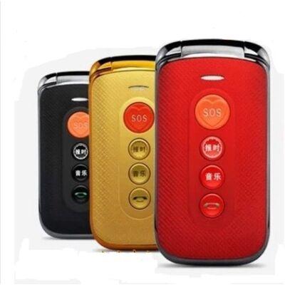 """F-Fook F888 2.4"""" Kártyafüggetlen Nagygombos Flip Mobiltelefon"""