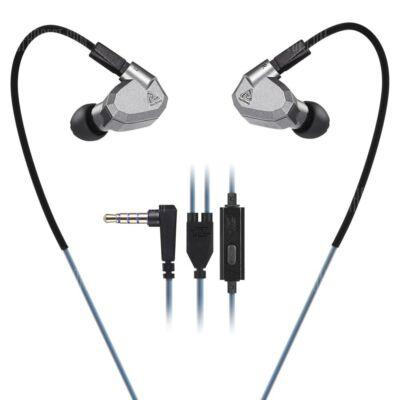 KZ ZS5 3.5mm (In-Ear) hibrid headset - Mikrofonnal, Szürke