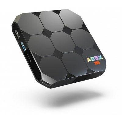 EU Raktár - A95X R2 Android 7.1 TV box (EU4) - EU csatlakozó, 16GB, Fekete
