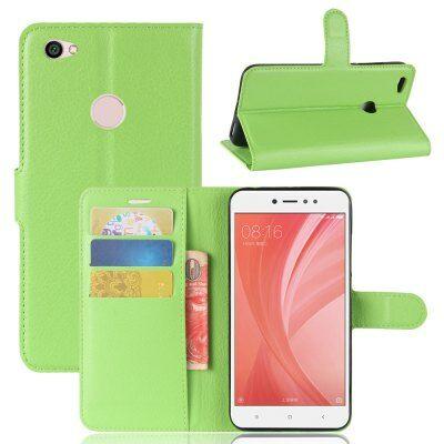 Xiaomi Redmi Note 5A Litchi mintás flip műbőr védőtok - Zöld