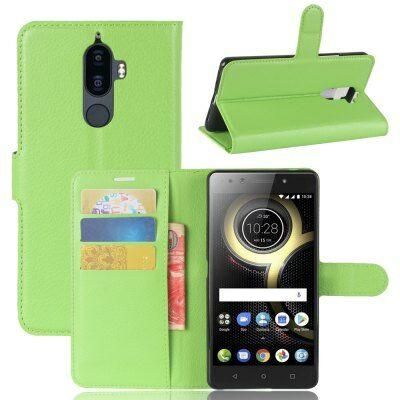 Lenovo K8 Note Litchi mintás csattos műbőr védőtok - Zöld