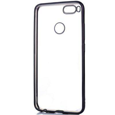 ASLING Xiaomi Mi A1 galvanizált élű védőtok - Fekete