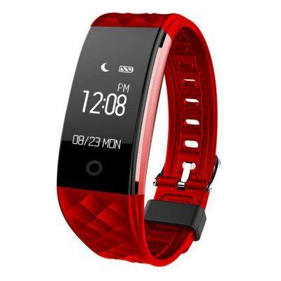 Fitness Tracker St10 IP67 okoskarkötő-Piros