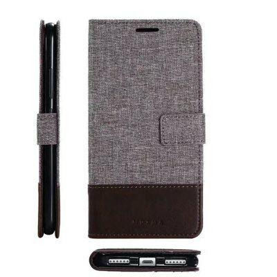 MUXMA  Xiaomi Redmi Note 5A kereszt vonalas védőtok - Barna