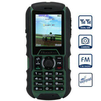 Huadoo H1 2.0 IPS MTK6261A Nucleus OS strapabíró mobiltelefon - Katonai zöld