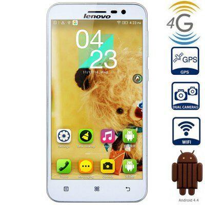 EU2 Raktár - Lenovo A806 5.0 HD IPS Android 4.4 MTK6592 + MTK6290 4G okostelefon - Fehér