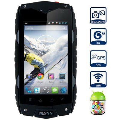 "MANN ZUG 3 4.0"" WVGA IPS Android 4.0 MSM8225 Strapabíró IP68 3G Okostelefon - Fekete"