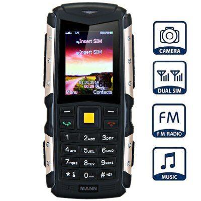 "MANN ZUG S 2.0"" Kártyafüggetlen Strapabíró IP67 Mobiltelefon - Arany"