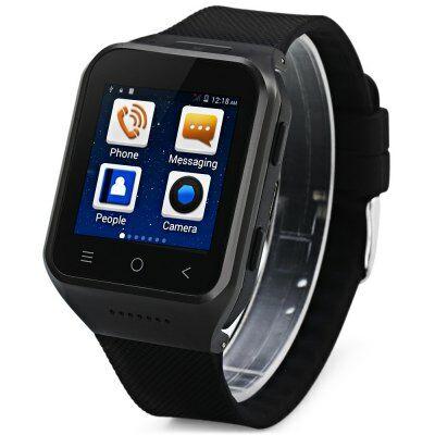 "ZGPAX S8 1.54"" Android 4.4 MTK6572 GPS 3G Okos karóratelefon - Fekete"