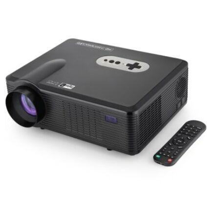 EU ECO Raktár - Excelvan CL720D LED projektor EU csatlakozó - Fekete