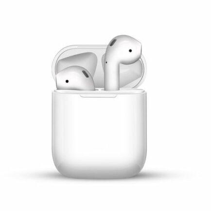 i12 TWS Vezetéknélküli Bluetooth Érintésvezérelhető Fülhallgató Töltő Tokkal - Fehér