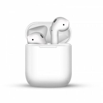 i12 TWS Vezetéknélküli Bluetooth Érintésvezérelhető Fülhallgató Mikrofonnal - Fehér