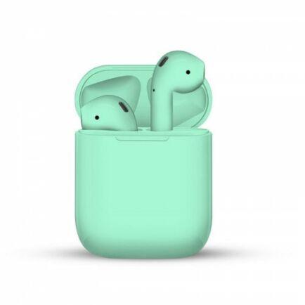 i12 TWS Vezetéknélküli Bluetooth Érintésvezérelhető Fülhallgató Mikrofonnal - Zöld