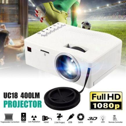 HD otthoni micro projektor - Fehér
