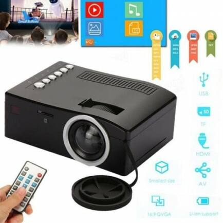 HD otthoni micro projektor - Fekete