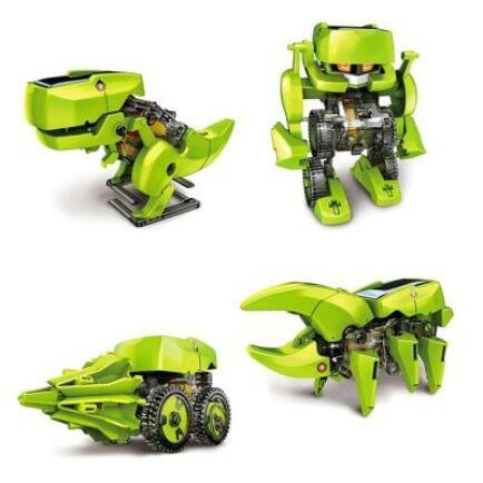 SUNLIGHT 2125 T4 4 in 1 Napelemes Dinoszaurusz Robot DIY Kit (HK4) - Zöld