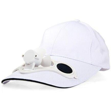 Napelemes ventilátoros baseballsapka (CN) - Fehér