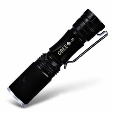 Cree XPE Q5 LED zseblámpa (CN) - Fekete