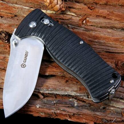 Ganzo G720 440C Rozsdamentes acél pengéjű zsebkés - Fekete