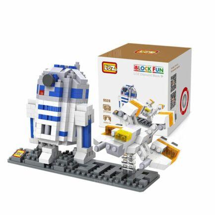 LOZ R2 - D2 építőkocka szett 370db - Fehér