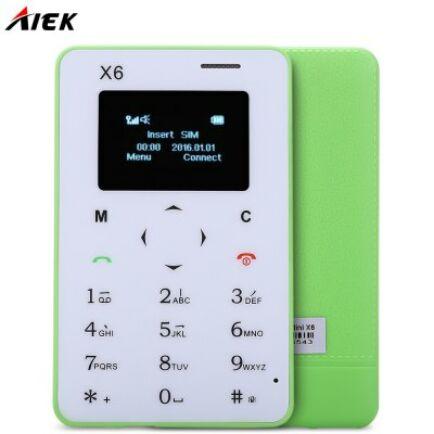 AIEK X6 2G mobiltelefon - Zöld