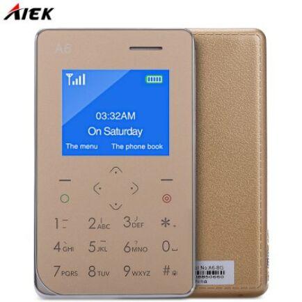 AIEK A6 2G mobiltelefon - Arany