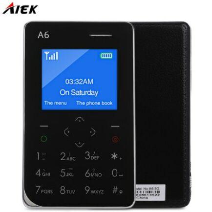 AIEK A6 2G mobiltelefon - Fekete