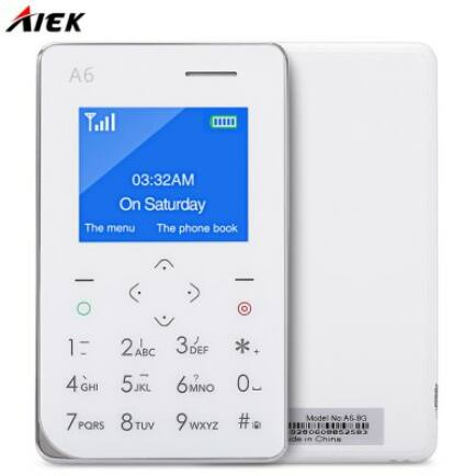 AIEK A6 2G mobiltelefon - Fehér