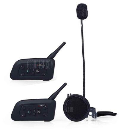 EU ECO Raktár - VNETPHONE V6 1200m Bluetooth Intercom headset (2db) - Fekete