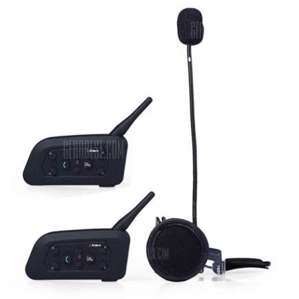 EU ECO Raktár - VNETPHONE V6 1200m Bluetooth Intercom headset (2db) - Fekete
