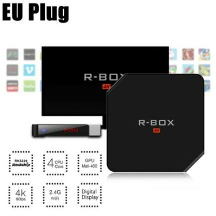 R - BOX Android 5.1 4K TV Box - Fekete