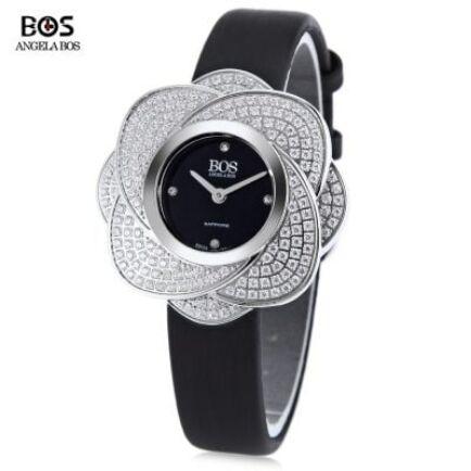 Angela Bos 8009L női quartz karóra (CN2) - Fekete