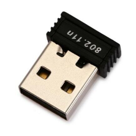 Vezeték nélküli WiFi USB 2.0 Hálózati kártya - Fekete