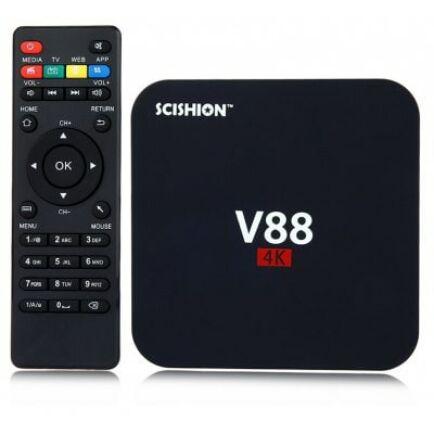 SCISHION V88 Android 5.1 4K TV Box - EU csatlakozó Fekete