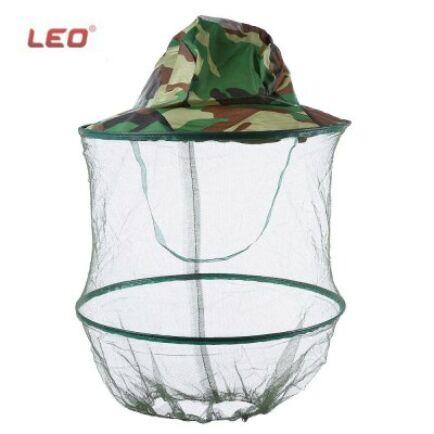 LEO szúnyoghálós horgász kalap - Terepmintás
