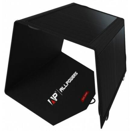 EU ECO Raktár - ALLPOWERS 18V 21W Napelemes Töltő Panel USB Csatlakozóval - Fekete