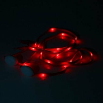 EU Raktár - Yeshold LED világító cipőfűző (UK) - Piros